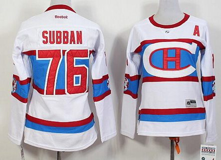 sports shoes 88b74 b5878 womens montreal canadiens 76 p.k subban reebok red 2015 16 ...