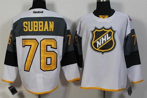 Men's Montreal Canadiens #76 PK Subban Reebok White 2016 NHL All-Star Premier Jersey