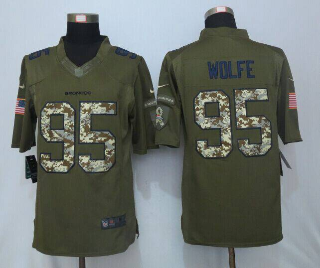... low cost mens denver broncos 95 derek wolfe green salute to service  2015 nfl nike limited 2b748fd6f