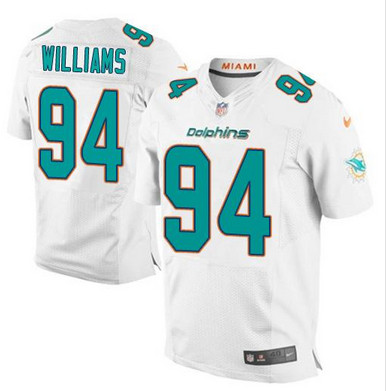 ID101187 Nike Dolphins #94 Mario Williams White Men\'s Stitched NFL New Elite Jersey