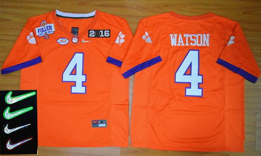 ... white college jersey Mens Clemson Tigers 4 Deshaun Watson Orange 2016  Playoff Rose Bowl Special Event Diamond Quest ... 9235cd923