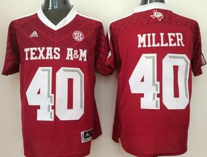 Men's Texas A&M Aggies #40 Von Miller Red 2016 College Football Nike Jersey