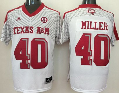Men's Texas A&M Aggies #40 Von Miller White 2016 College Football Nike Jersey