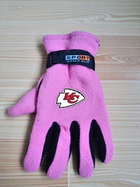 Kansas City Chiefs NFL Adult Winter Warm Gloves Pink