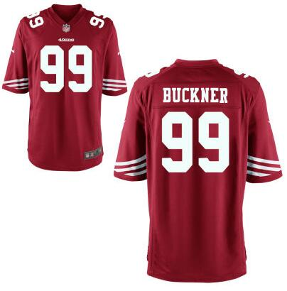 Youth San Francisco 49ers #99 DeForest Buckner Nike Red 2016 Draft Pick Game Jersey