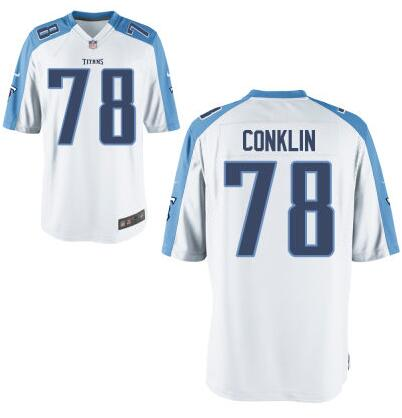 Youth Tennessee Titans #78 Jack Conklin Nike White 2016 Draft Pick Game Jersey