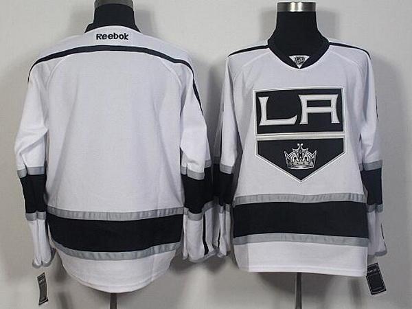 Men's Los Angeles Kings Blank Reebok White Away Hockey Jersey