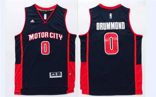 3f4a9984896 Men s Detroit Pistons  0 Andre Drummond Revolution 30 Swingman Navy Blue  Jersey