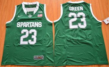 f38a1e54651 ... Mens Michigan State Spartans 23 Draymond Green Green College Basketball  Nike Jersey ...