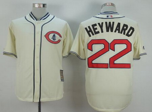 8c7cbe7c7 ... Baseball Jersey Mens Chicago Cubs 22 Jason Heyward Cream 1929 Majestic  Cooperstown Collection Throwback Jersey .