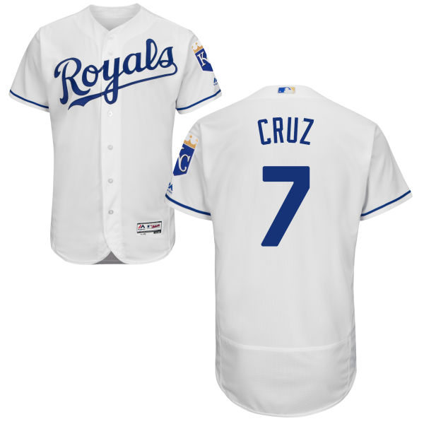 c4feb052d ... Gold Program Baseball Jerseys World Series Champions Patch Mens Mens  Kansas City Royals 7 Tony Cruz Majestic White 2016 Flexbase Authentic  Collection ...