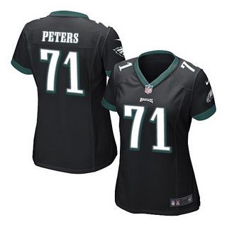 half off 767be ecd05 Women's Philadelphia Eagles #71 Jason Peters Green NFL Nike ...