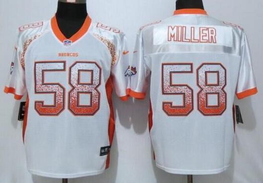 ID100738 Men\'s Denver Broncos #58 Von Miller White Drift Fashion NFL Nike Elite Jersey