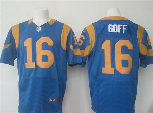 Jerseys NFL Wholesale - Men's Los Angeles Rams #17 Case Keenum Royal Blue Alternate ...