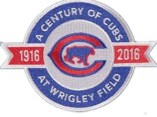 Chicago Cubs 100 Years Anniversary and Commemorative Patch