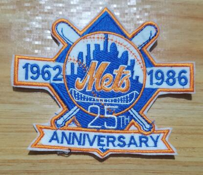 New York Mets 25th Anniversary and Commemorative Patch