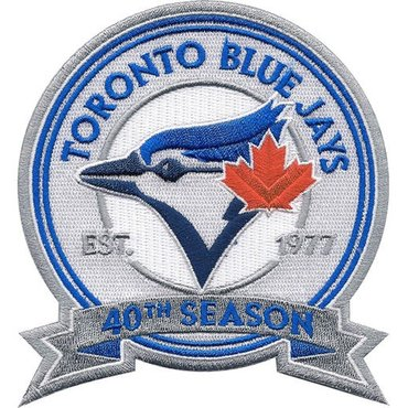 Toronto Blue Jays 40th Anniversary & Commemorative Patch