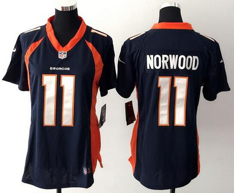 ronnie hillman broncoseventsnfl womens denver broncos 11 jordan norwood navy blue alternate nfl nike