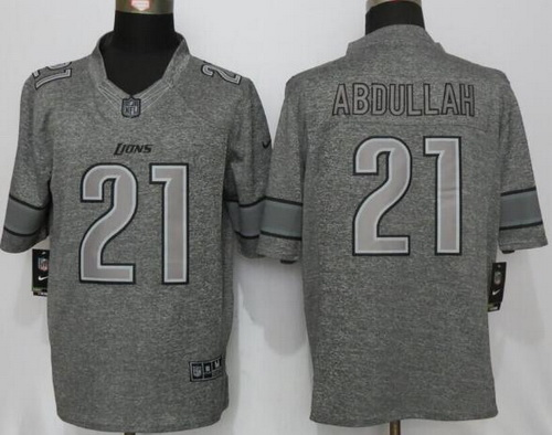 ... Mens Detroit Lions 21 Ameer Abdullah Gray Gridiron Nike NFL Limited  Jersey Womens Matthew Stafford Limited ... 942789814