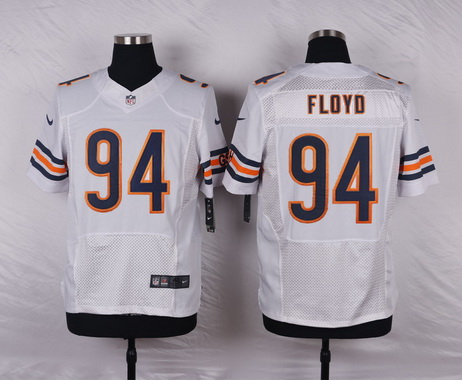 NFL Jerseys Nike - Men's Chicago Bears #94 Leonard Floyd White Road NFL Nike Elite ...