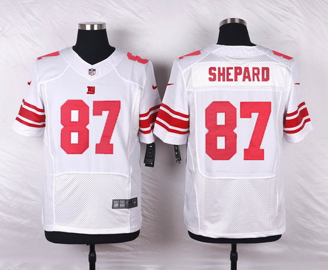 ID100566 Men\'s New York Giants #87 Sterling Shepard White Road NFL Nike Elite Jersey