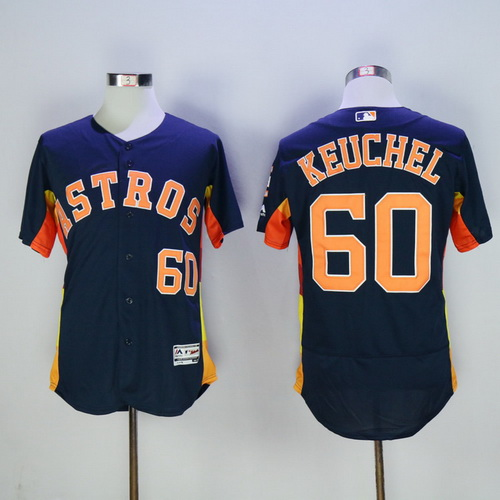 558b817de Men s Houston Astros  60 Dallas Keuchel Navy Blue 2016 Flexbase Majestic  Baseball Jersey