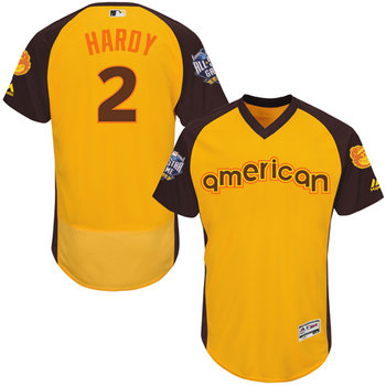 310293fbc5b J.J. Hardy Gold 2016 All-Star Jersey - Men s American League Baltimore  Orioles  2 Flex Base Majestic MLB Collection Jersey