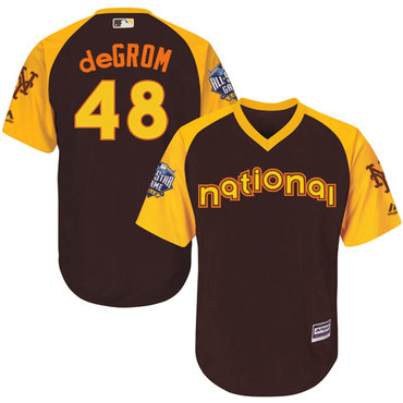 Jacob deGrom Brown 2016 MLB All-Star Jersey - Men's National League New York Mets #48 Cool Base Game Collection