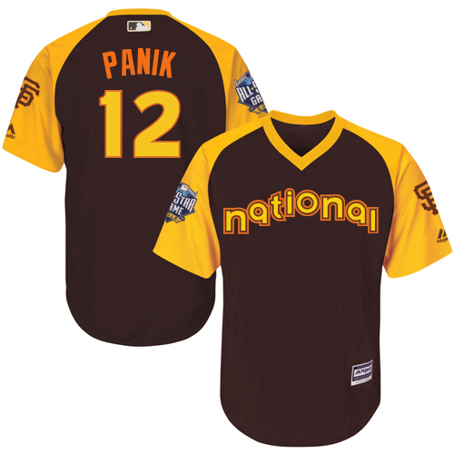 Joe Panik Brown 2016 MLB All-Star Jersey - Men's National League San Francisco Giants #12 Cool Base Game Collection