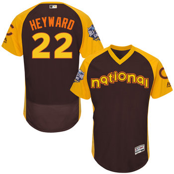 Jason Heyward Brown 2016 All-Star Jersey - Men's National League Chicago Cubs #22 Flex Base Majestic MLB Collection Jersey