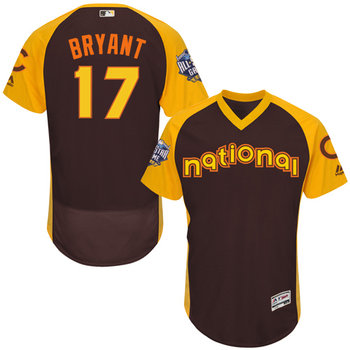 Kris Bryant Brown 2016 All-Star Jersey - Men's National League Chicago Cubs #17 Flex Base Majestic MLB Collection Jersey