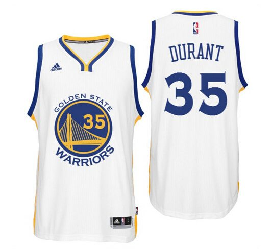 Youth Golden State Warriors Kevin Durant White Swingman #35 Player Adidas Home Jersey