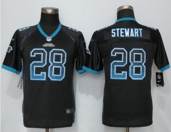 962fcccac Youth Carolina Panthers #28 Jonathan Stewart Black Drift Fashion NFL Nike  Jersey