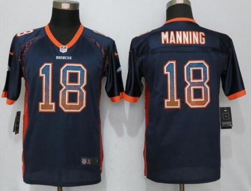 a8852abfdfa ... discount youth denver broncos 18 peyton manning navy blue drift fashion stitched  nike nfl football jersey