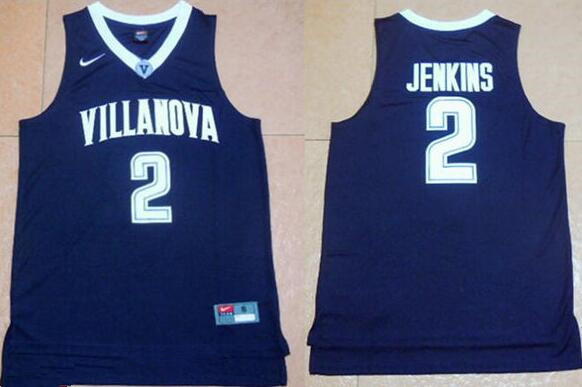 40e34091d Men s Villanova Wildcats  2 Kris Jenkins Navy Blue NCAA Basketball Jersey