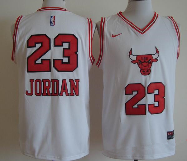 380acd95fc0 ... Mens Chicago Bulls 23 Michael Jordan White Bull Head Fashion Stitched  NBA Nike Swingman Jersey ...