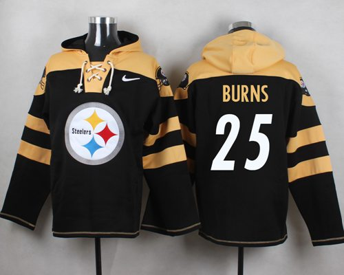 Nike Steelers #25 Artie Burns Black Player Pullover NFL Hoodie