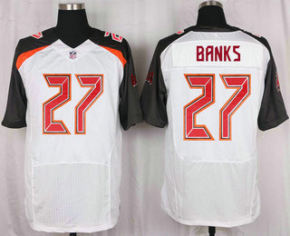 Men s Tampa Bay Buccaneers  27 Johnthan Banks White Road NFL Nike Elite  Jersey fc469f07d