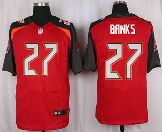 Men s Tampa Bay Buccaneers  27 Johnthan Banks Red Team Color NFL Nike Elite  Jersey 7edc7e3f2