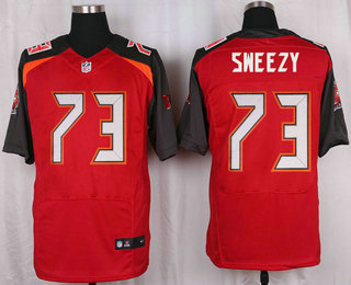 Men s Tampa Bay Buccaneers  73 J.R. Sweezy Red Team Color NFL Nike Elite  Jersey 13a33d407