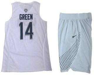 2016 Olympics Team USA Men's #14 Danny Green White Revolution 30 Swingman Basketball Jersey With Shorts