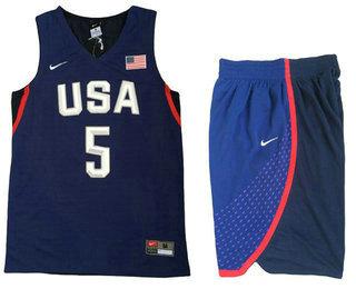 2016 Olympics Team USA Men's #6 LeBron James Navy Blue Revolution 30 Swingman Basketball Jersey With Shorts