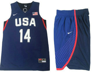 2016 Olympics Team USA Men's #14 Danny Green Navy Blue Revolution 30 Swingman Basketball Jersey With Shorts