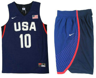 2016 Olympics Team USA Men's #10 Kyrie Irving Navy Blue Revolution 30 Swingman Basketball Jersey With Shorts