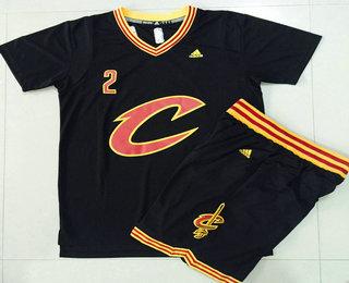 76851085e60 ... Mens Cleveland Cavaliers 2 Kyrie Irving Revolution 30 Swingman 2015-16  New Black Short- ...