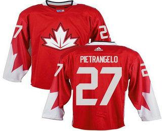 Team Canada Men's #27 Alex Pietrangelo Red 2016 World Cup Stitched NHL Jersey