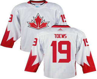 Team Canada Men's #19 Jonathan Toews White 2016 World Cup Stitched NHL Jersey