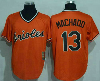 7c80c3f98 ... cal ripken authentic white throwback mlb jersey 2f924 c5acf  free  shipping mens baltimore orioles 13 manny machado orange pullover stitched  mlb majestic ...