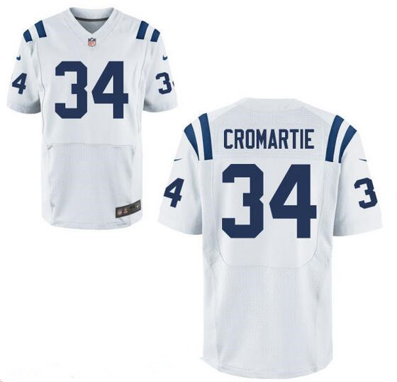 Men's Indianapolis Colts #34 Antonio Cromartie White Road Stitched NFL Nike Elite Jersey