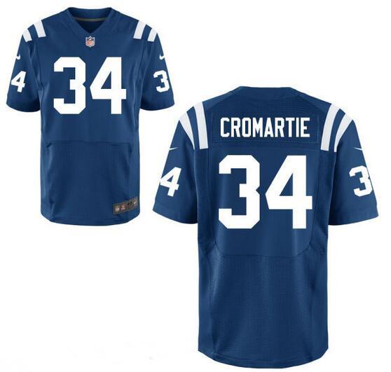 Men's Indianapolis Colts #34 Antonio Cromartie Royal Blue Team Color Stitched NFL Nike Elite Jersey